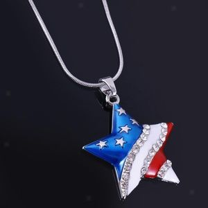 USA Star Necklace